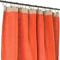 JUTE Rideau en Toile - Orange