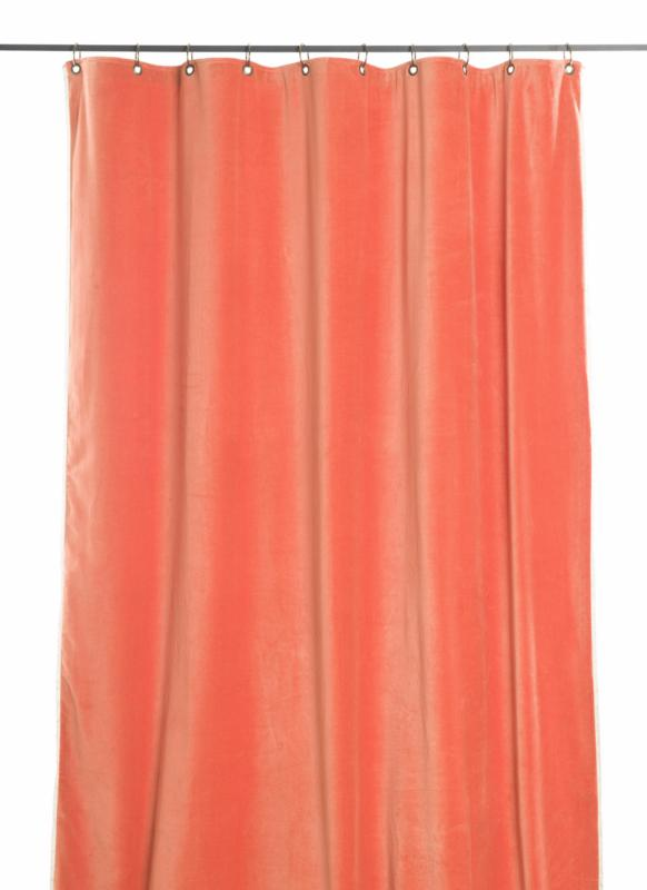 Tosca Rideau En Velours Orange